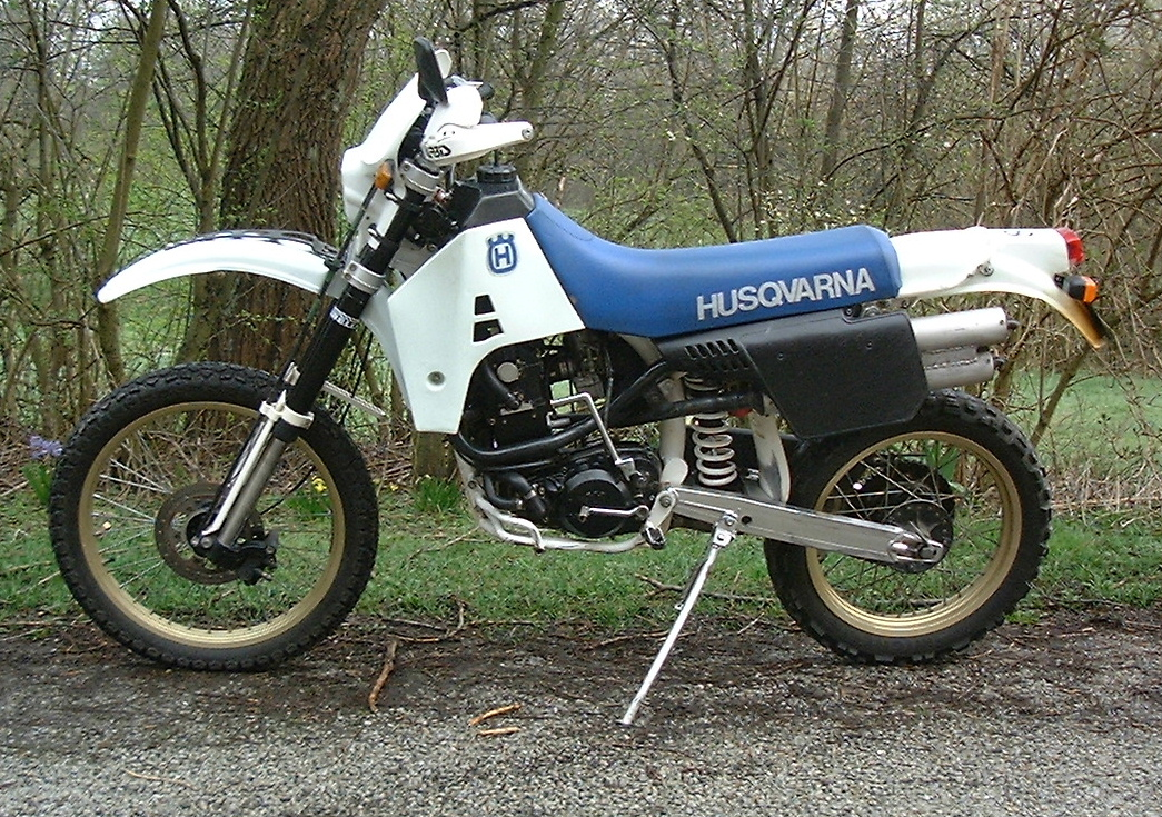 This is a Husqvarna TE 510 model 1989, registered 1990. Data: 127kg, 50hk