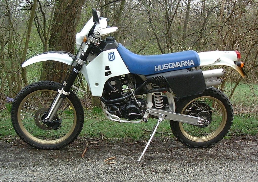 This is a Husqvarna TE 510 model 1989, registered 1990. Data: 127kg, 50hk