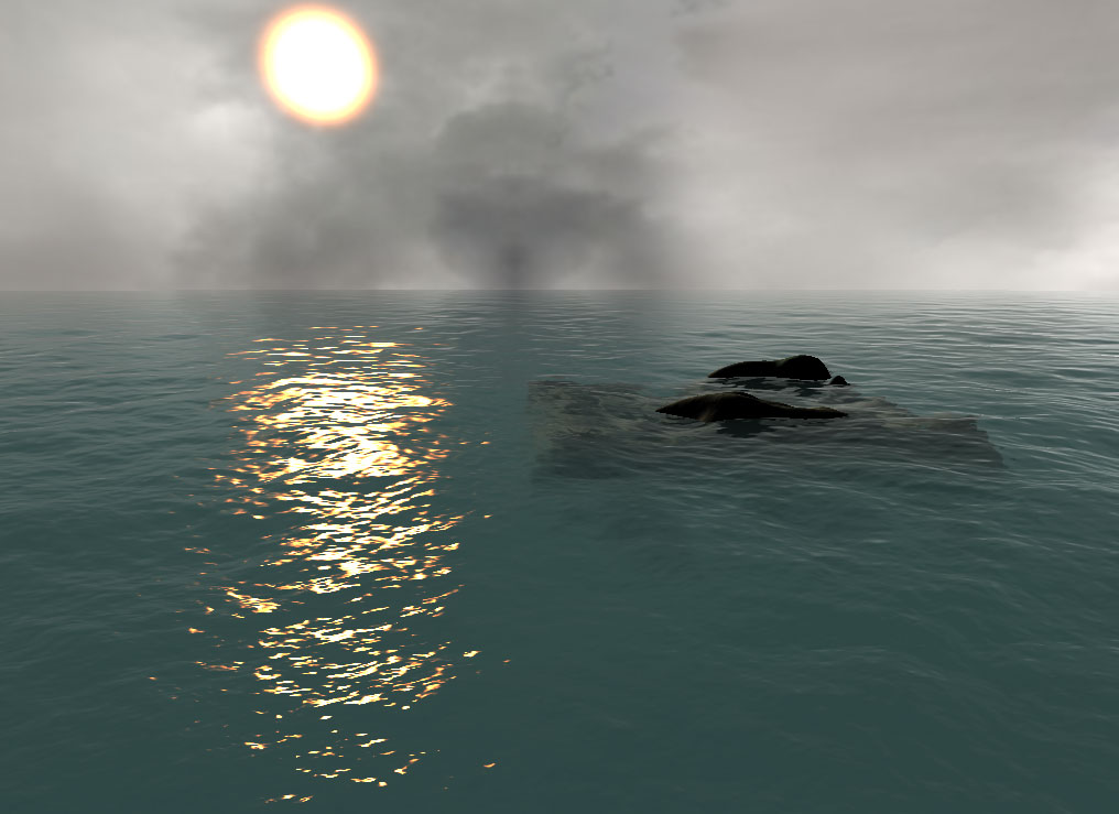 water rendering with projected grid